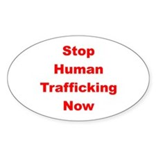Stop Human Trafficking Now Oval Decal