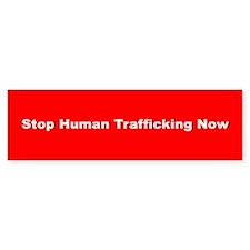 Stop Human Trafficking Now Bumper Bumper Stickers