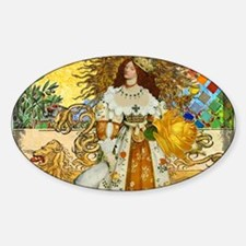 Vintage Lion Leo Princess Gold Whimsical Decal