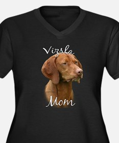 Vizsla Mom2 Women's Plus Size V-Neck Dark T-Shirt