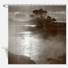 Sleeping volcano Shower Curtain