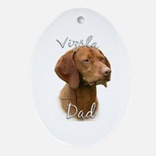 Vizsla Dad2 Oval Ornament