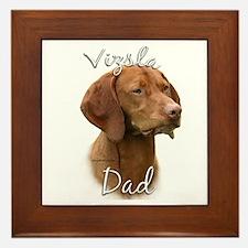 Vizsla Dad2 Framed Tile