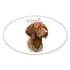 Vizsla Dad2 Oval Decal