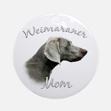 Weimaraner Mom2 Ornament (Round)