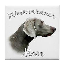 Weimaraner Mom2 Tile Coaster