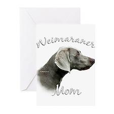 Weimaraner Mom2 Greeting Cards (Pk of 10)