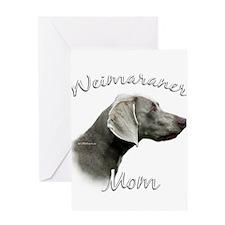 Weimaraner Mom2 Greeting Card