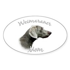Weimaraner Mom2 Oval Decal