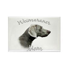 Weimaraner Mom2 Rectangle Magnet