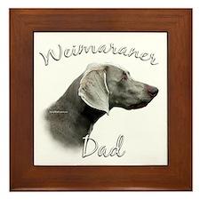 Weimaraner Dad2 Framed Tile