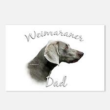 Weimaraner Dad2 Postcards (Package of 8)