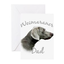 Weimaraner Dad2 Greeting Cards (Pk of 10)