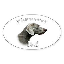 Weimaraner Dad2 Oval Decal