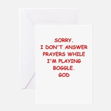 boggle Greeting Cards