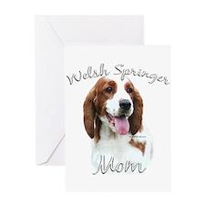 Welsh Springer Mom2 Greeting Card