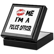 Kiss Me I'm A Police Officer Keepsake Box