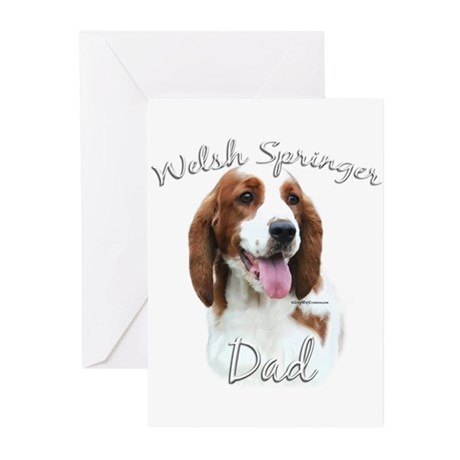 Welsh Springer Dad2 Greeting Cards (Pk of 10)