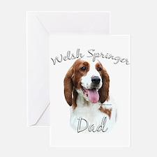 Welsh Springer Dad2 Greeting Card