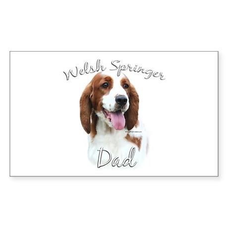 Welsh Springer Dad2 Rectangle Sticker