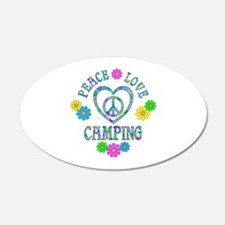 Peace Love Camping Wall Decal