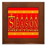 Season Greetings Tristar Ribb Framed Tile