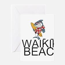 Waikiki Beach Greeting Cards