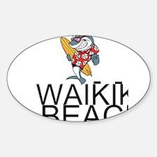 Waikiki Beach Decal