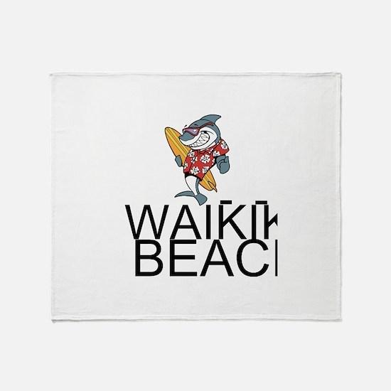 Waikiki Beach Throw Blanket