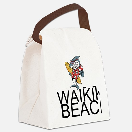 Waikiki Beach Canvas Lunch Bag