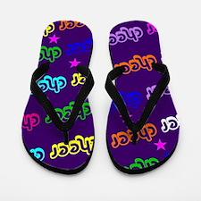 Purple Cheerleader Flip Flops