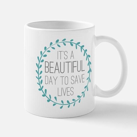 Greys Anatomy Its A Beautiful Day Mug