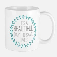 Greys Anatomy Its A Beautiful Day Small Mugs