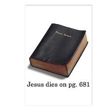 Jesus Dies Postcards (Package of 8)