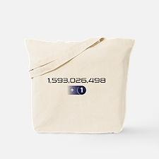 +1 on light color background Tote Bag