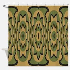 Ethnic geometric pattern Shower Curtain