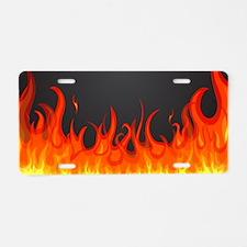 Flames Aluminum License Plate