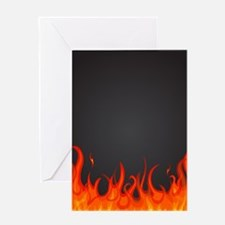 Flames Greeting Cards