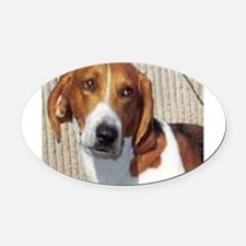 american foxhound Oval Car Magnet