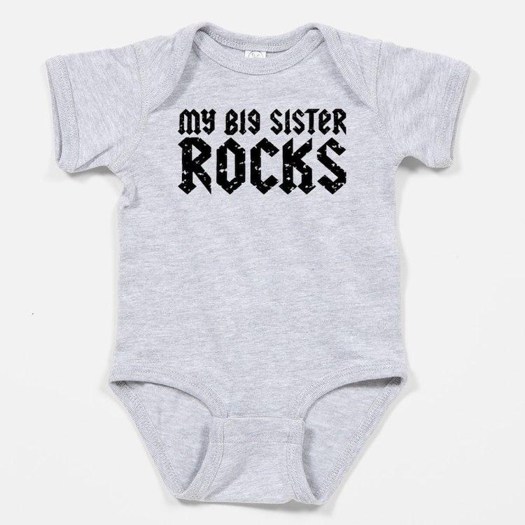 Cute My big sister rocks Baby Bodysuit