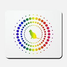 Cat Rainbow Studs Mousepad