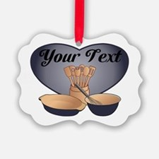 Cook or Chef Personalized Dark Blue Ornament