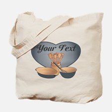 Cook or Chef Personalized Grey Blue Tote Bag