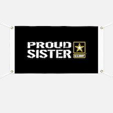 U.S. Army: Proud Sister (Black) Banner