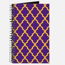 Moroccan Quatrefoil Pattern: Purple & Gold Journal