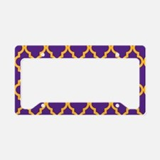 Moroccan Quatrefoil Pattern: License Plate Holder