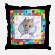 Hamster in Heart Throw Pillow