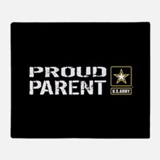 U.S. Army: Proud Parent (Black) Throw Blanket