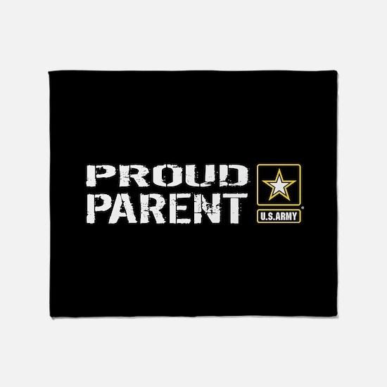 U.S. Army: Proud Parent (Black) Throw Blanket
