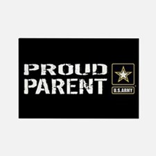 U.S. Army: Proud Parent (Black) Rectangle Magnet